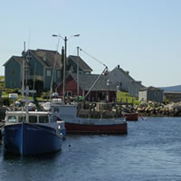 Peggy's Cove sheltered harbour Nova Scotia